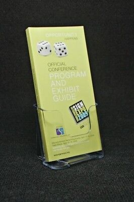 Clear Acrylic Tri-fold Brochure Literature Holder - 4 Wide