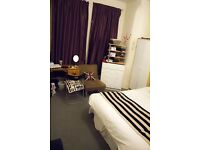 Very Large double room in a clean modern house with a garden & a living room. 5 mins walk to tube