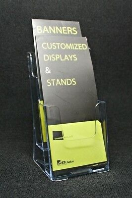 2-pocket Brochure Holder For Pamphlet Magazine Or Catalog Display