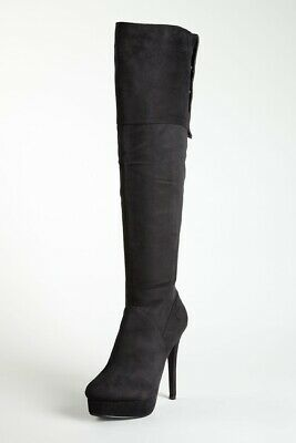 CLEARANCE 70% sale New Charles David Leather Classic Knee Boot Black size 7.5](Boots 70 Sale)