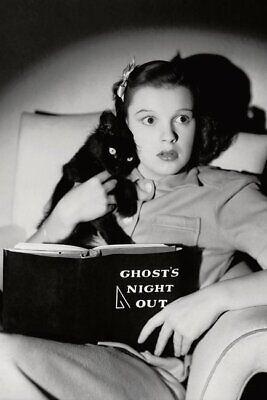 POSTCARD Print / Judy Garland + Black Cat / Halloween