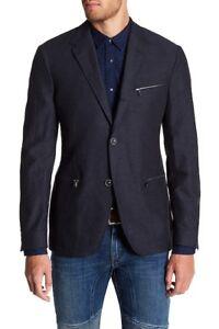 John Varvatos - Zip Pocket Blazer (Navy), Brand new, $300