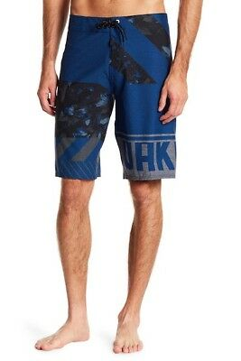 Used, Oakley Men's 32 Blue Black Lowers 21 Stretch Surf  Board Shorts Beach for sale  Shipping to India