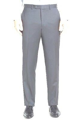 NWOT JB BRITCHES TORINO MENS MID GRAY WORSTED WOOL DRESS PANTS SIZE 32R