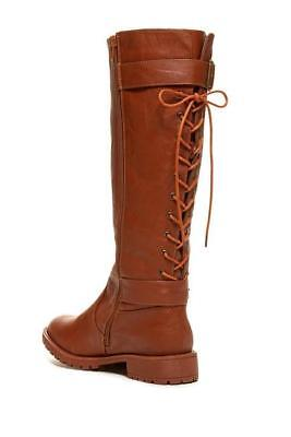 Carrini CA Collection Womens Fashion Rear Lace-Up Riding Boots, Cognac, Size 6.5 for sale  Chattanooga