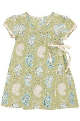 BOUTIQUE HIGH END NORDSTROM FERD INFANT GIRL KIMONO WRAP SPRING DRESS $103 18 M](High End Baby Dresses)