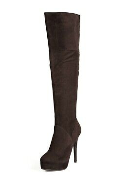 CLEARANCE 70% sale New Charles David Leather Classic Knee Boot Brown size 7.5](Boots 70 Sale)