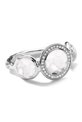IPPOLITA Sterling Silver Stella Lollipop Ring Triple Quartz & Diamonds $495 Sz 8