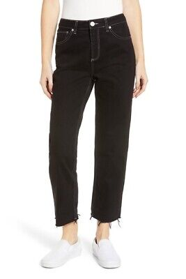 NWT BDG URBAN OUTFITTERS BLACK WASH CROPPED PAX JEANS SIZE 31