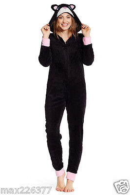 new junior women Pajamas One Piece LONG onepice cat  PJ Large costume