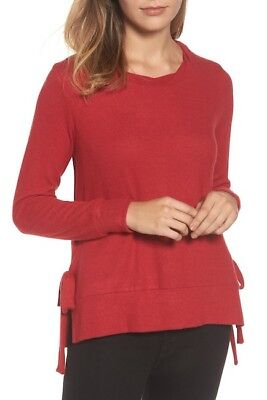 GIBSON  SIDE TIE YUMMY FLEECE  SOFT PULLOVER SWEATER Sz XL  NWT NORDSTROM  $ 68 ()