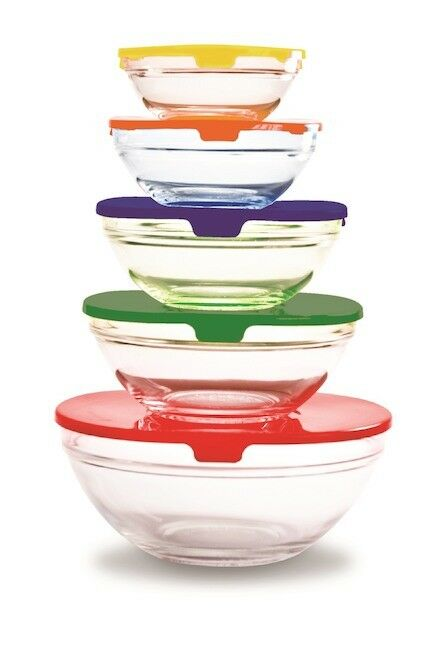 Farberware Bowls 10 Piece Set Snap-Tight Lids BPA Free Food