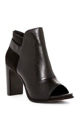 NIB $170 M4D3 Drive Black Leather Peep Toe Ankle Boots Booties 9.5 for sale  Prospect
