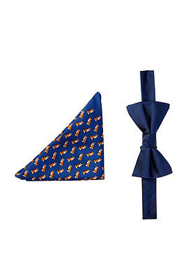 Tommy Hilfiger Fox & Herringbone Silk Bow Tie & Pocket Square Set ()