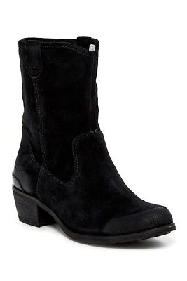 Womens Ugg Australia Boots Uggs Brair Shearling Lined Western Black Slouch 6