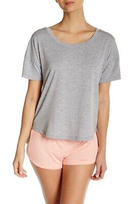 Honeydew Intimates Up All Night Short Sleeve Pajama T Shirt Top Gray Medium NWT