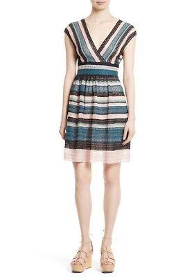 Metal Lace Dress - MISSONI Metallic Ribbon Lace Dress in Teal (Size 42) $895