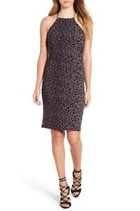Leith Ruched Leopard Print Dress