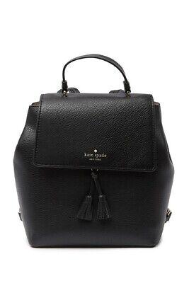 kate spade new york Hayes Leather Medium Backpack/NWT/Black/$358