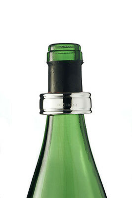 SOLID SILVER WINE BOTTLE DRIP COLLAR (Hallmarked) SUITABLE FOR ENGRAVING