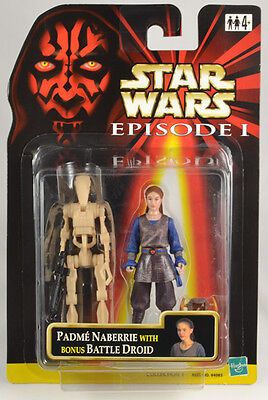 Star Wars Episode I Padme with Bonus Battle Droid Set  Brand New with PROTECH (Padme Lightsaber)