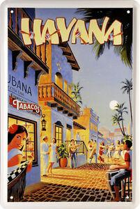 Night Life In Havana Cuba Rum Real Karibik Flair 20 x 30 Deko Blechschild 1458