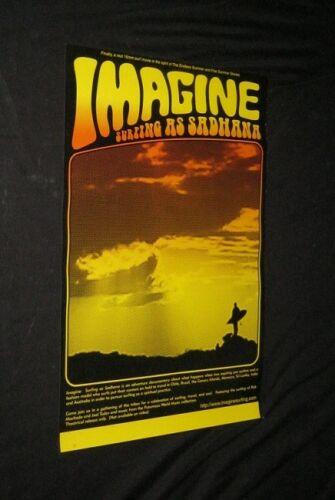 Original Australian Surfing Poster IMAGINE SURFING AS SARDHANA