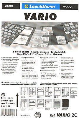 25 NEW Lighthouse VARIO 2C stock pages (clear sheets)-Free Expedited shipping