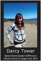 Darcy Tower at Moncton House Church...