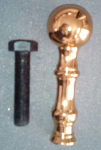 8 Ball top brass finials