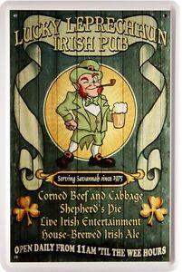 Irish Pub Lucky Leprechaun Beer Bier Ale 20 x 30 cm Funny Blechschild 1218