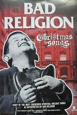 BAD RELIGION 2013 christmas songs promotional POSTER ~NEW & MINT condition~!