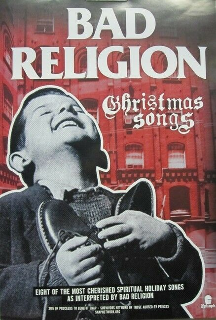 BAD RELIGION 2013 christmas songs promotional poster Flawless New Old Stock