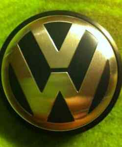 VW Volkswagen Center Wheels Caps & Grill Emblem - 65 / 55mm Kitchener / Waterloo Kitchener Area image 1