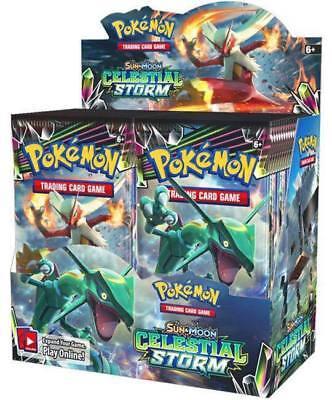 Pokemon TCG Sun & Moon Celestial Storm Booster  Preorder FREE SHIPPING