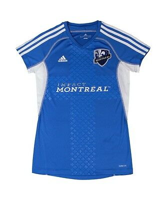 MLS Soccer 2012 Montreal Impact Women's Ladies Call Up Jersey XL Blue Adidas NWT image