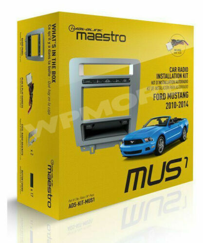 iDatalink Maestro Dash KIT MUS1 for Ford Mustang with Basic Radio 2010 to 2014