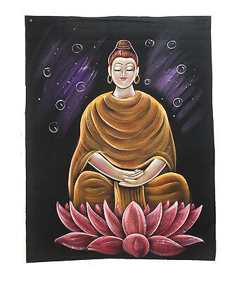 Batik Fabric of Buddha Painted 70x52cm Handmade 03