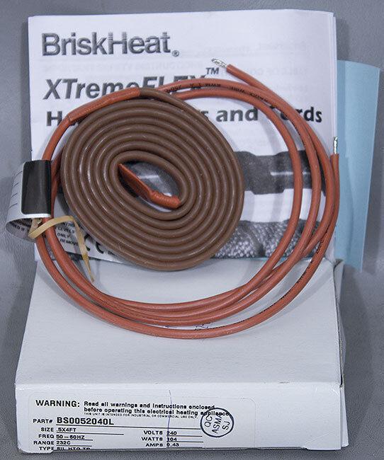 New Briskheat Xtremeflex Bs0052040l Silicone Heating Tape, Asm Pn: 56-108140a15