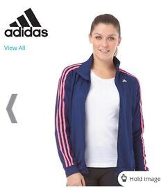 Brand New Adidas Womens Gym Basics 3 Stripe Top, Size Small 8-10