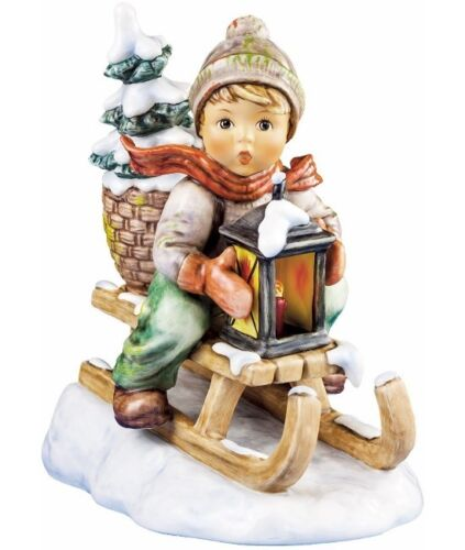 Hummel Ride Into Christmas #396/III Jumbo Size Boy on Sled Brand New