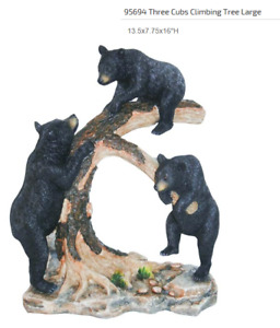 Bears - 3 cubs climbing tree