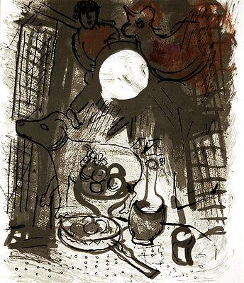 Marc Chagall - Jacques Lassaigne - Brown Still Life M.205)- Original Lithograph