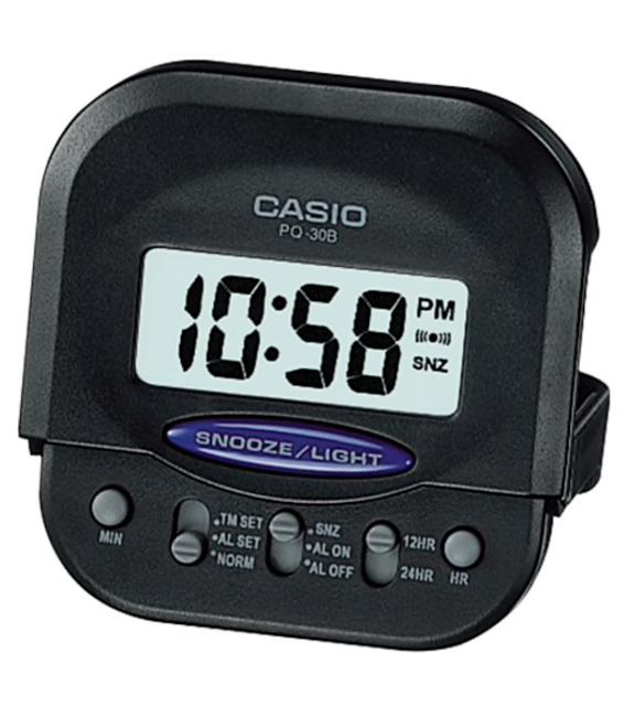 Casio Original Small Travel-Table Digital Alarm Clock PQ-30B-1 Black PQ30