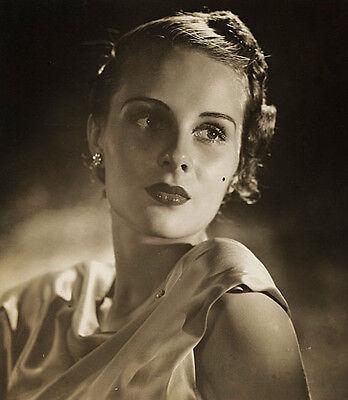 Grancel Fitz Studio Portrait of a Beautiful Model, 8x10 Vintage Photograph