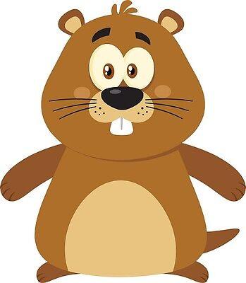 30 Custom Cute Cartoon Groundhog Personalized Address Labels
