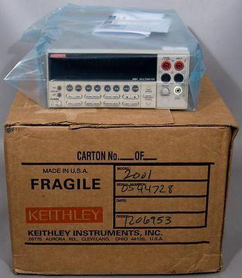 Keithley 2001 7-12 Digit Multimeter Multi Meter Wcal