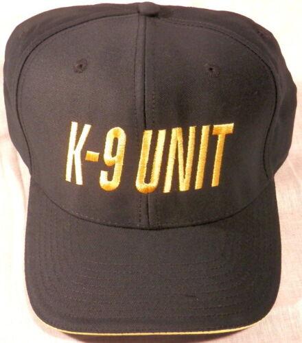 K-9 UNIT Gold on Midngiht Navy baseball hat/cap (police/sheriff/K9/canine)