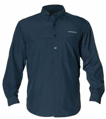 SHIMANO LONG SLEEVE VENTED FISHING SHIRT UPF30+ SLATE 3X XXXL BRAND NEW (Shimano Fishing Shirts For Men)