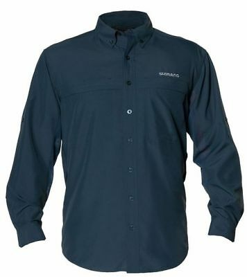 SHIMANO LONG SLEEVE VENTED FISHING SHIRT UPF30+ SLATE 2X XXL BRAND NEW (Shimano Fishing Shirts For Men)